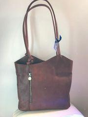 Italian Leather Handbag/Backpack