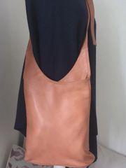 Italian Leather Crossbody Bag - Tan