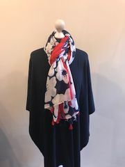 Italian Cashmere Blend Wrap - Navy
