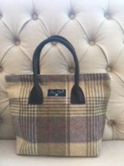 Blu Beri Tweed Grab Bag - Heather Check W24