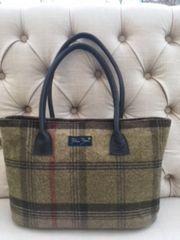 Large Tweed Handbag - Brown Check