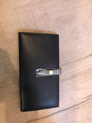 Leather Purse - Navy Blue