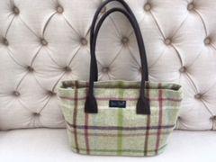 Blu Beri Large Tweed Bag - Lime Check W20