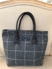 Tweed Grab Bag Dark Grey Check