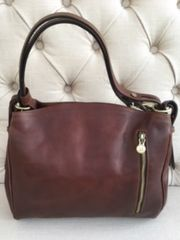 Italian Leather Antique Handbag L120