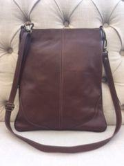 Italian Leather Crossbody Bag Brown L96