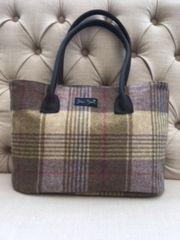 Blu Beri Large Tweed Bag - Heather Check