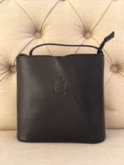 Italian Leather Small Crossbody Black L104