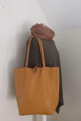 Italian Leather Tote Bag - Tan L58