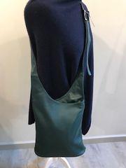 Italian Leather Crossbody Bag - Jade Green