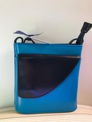Italian Leather Handbag Blue/Navy