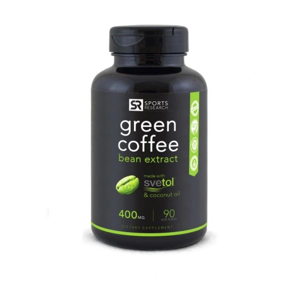 SVETOL Green Coffee Bean Extract (400mg) 90 Liquid Softgels
