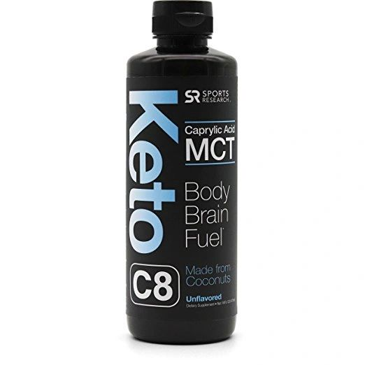 Keto MCT Oil containing only c8 Caprylic Acid