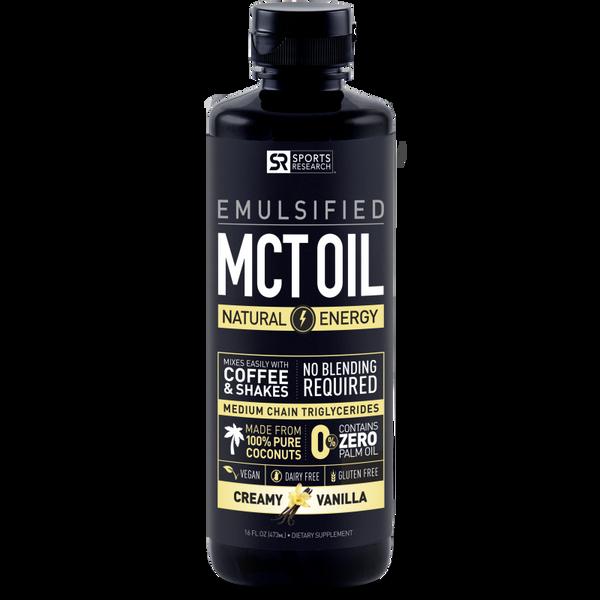 Emulsified MCT Oil - Creamy Vanilla Flavor