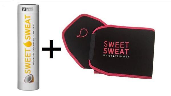 Sweet Sweat Coconut Stick 6.4oz + Waist Trimmer Belt Pink