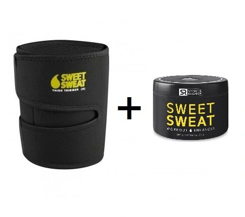 SWEET SWEAT JAR (184g) & THIGH TRIMMER (PAIR) Yellow