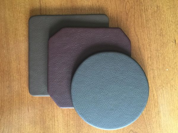 Faux Leather Coasters Custom Desk Conference Table Mats