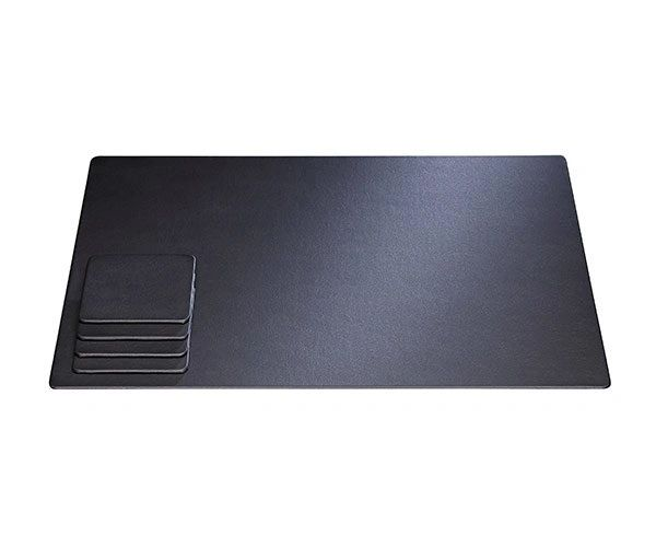 Desk Conference Mats Pads Blotter Faux Leather Custom Desk - Conference room table mats