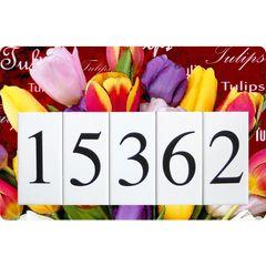 Tulips Address Sign Large