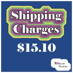 $15.10 Shipping Charges For Your Order Taken At Our Show