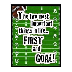 First and Goal Sports Sign