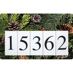 Pinecones Address Sign Large