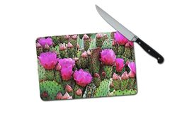 Cactus Small Tempered Glass Cutting Board