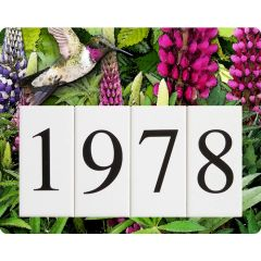 Lupine Hummingbird Humbird Address Sign Small