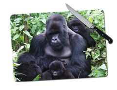 Gorillas Large Tempered Glass Cutting Board