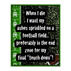 When I Die Sports Sign