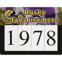 Husky Address Sign Small