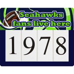Seahawks Address Sign Small