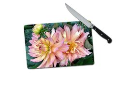Dahlia Small Tempered Glass Cutting Board