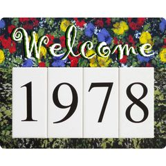 Monet Welcome Address Sign Small