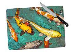 Koi Large Tempered Glass Cutting Board