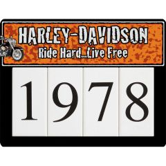 Harley Address Sign Small
