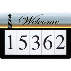 Lighthouse Address Sign Large