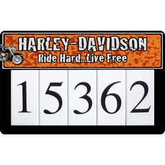 Harley Address Sign Large