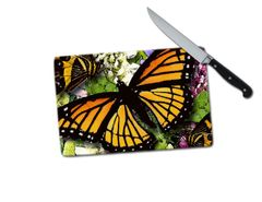 Butterfly Small Tempered Glass Cutting Board