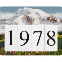 Mountain Address Sign Small