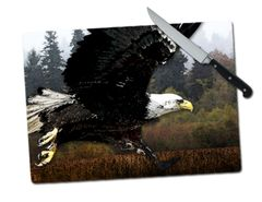 Eagle Large Tempered Glass Cutting Board