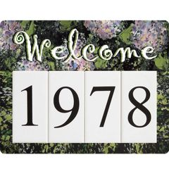 Hydrangea Welcome Address Sign Small