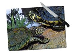 Turtles Large Tempered Glass Cutting Board