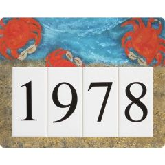Crab Address Sign Small