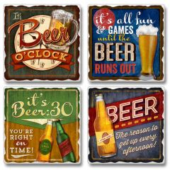 It's Beer O'Clock Absorbent Coaster Set