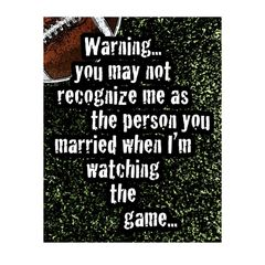 Warning Married Sports Sign
