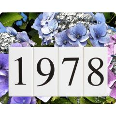 Hydrangea Address Sign Small