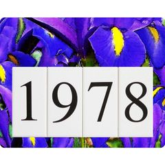 Iris Address Sign Small