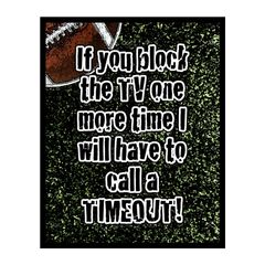 If You Block The TV Sports Sign