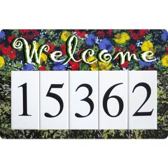 Monet Welcome Address Sign Large